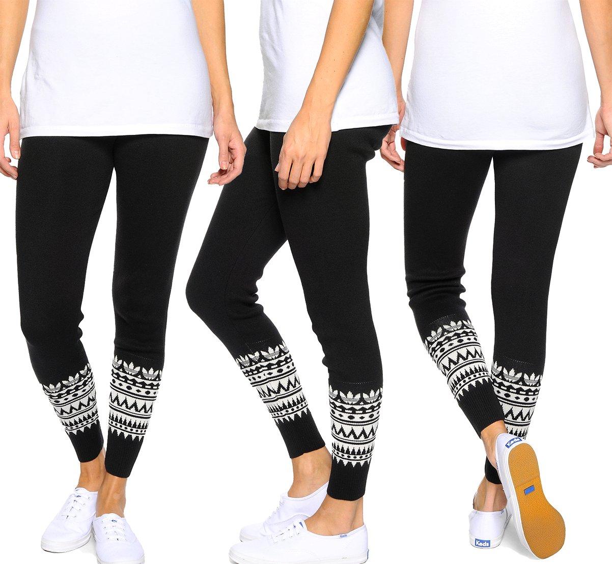 adidas leggings nordic patterned leggings gr 40 schwarz. Black Bedroom Furniture Sets. Home Design Ideas